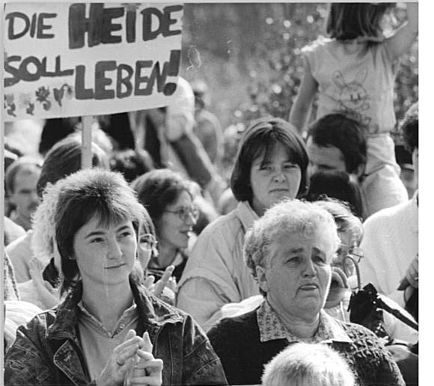 Protest gegen einen Truppenübungsplatz der Bundeswehr in der Colbitz-Letzlinger Heide