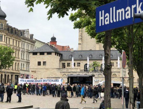 Proteste gegen gestrige AfD-Kundgebung in Halle