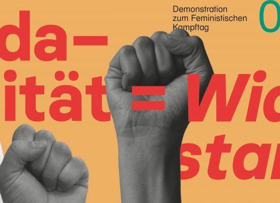 Solidarität heißt Widerstand -Feministischer Frauen*kampftag in Halle