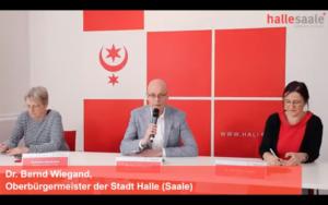 Pressekonferenz der Stadt Halle vom 15.12.2020