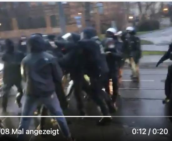 Polizeiübergriff am Samstag in Halle