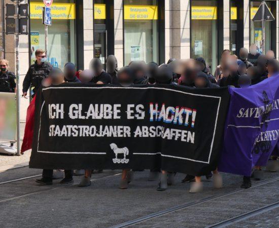100 Menschen bei Demonstration gegen Staatstrojaner in Halle